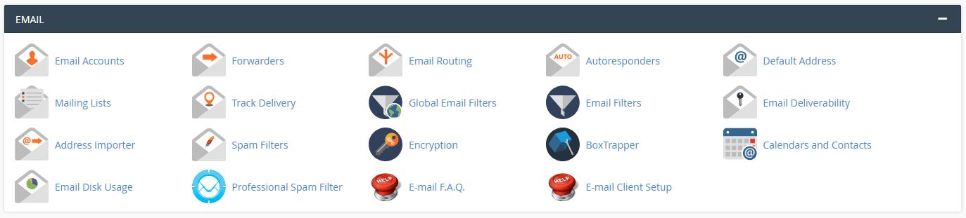 3. Crea y administra tus cuentas de correo electrónico.