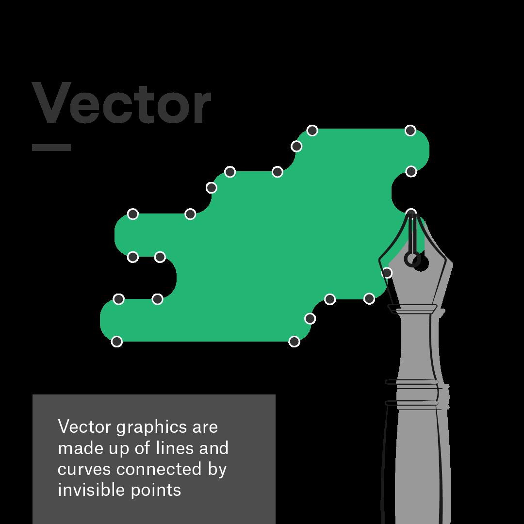 ¿Cuál es la diferencia entre gráficos vectoriales y gráficos rasterizados?