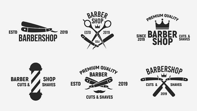 ejemplos logos peluquerías y barbershop´s