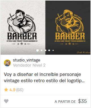 logos para barbería studio vintage