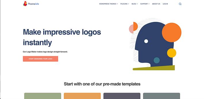 Creador de logotipos de Themeisle