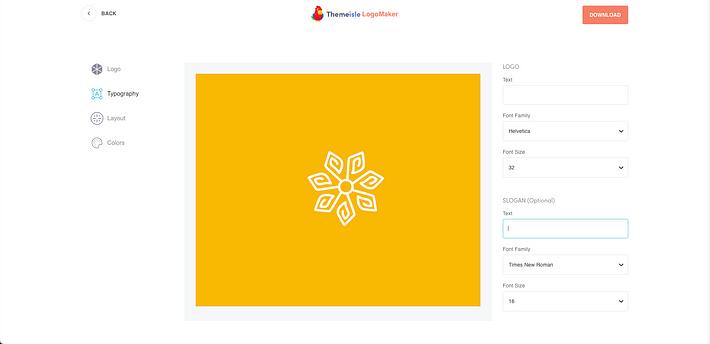 Crea logo con Themeisle Logo Maker