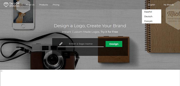 Tailor Brands es una herramienta premium para crear logotipos
