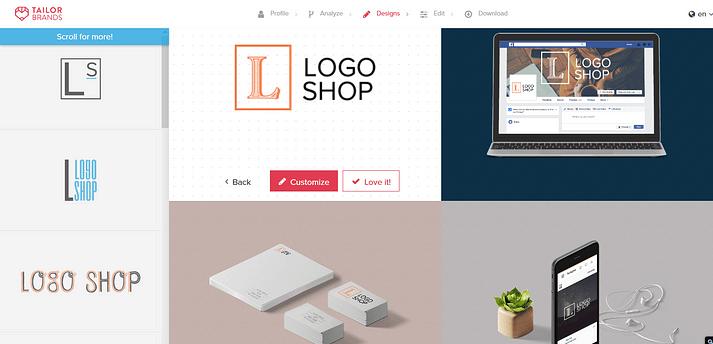 Crear logotipo con Tailor Brands