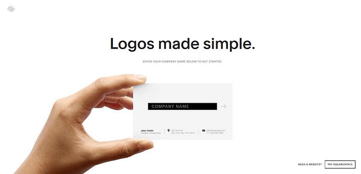 Creador de logos de Squarespace