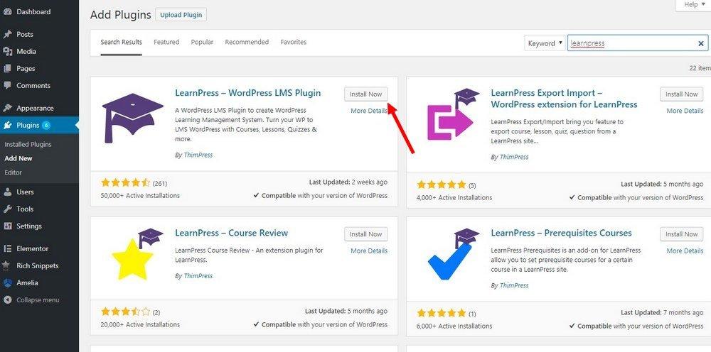 Cómo instalar LearnPress