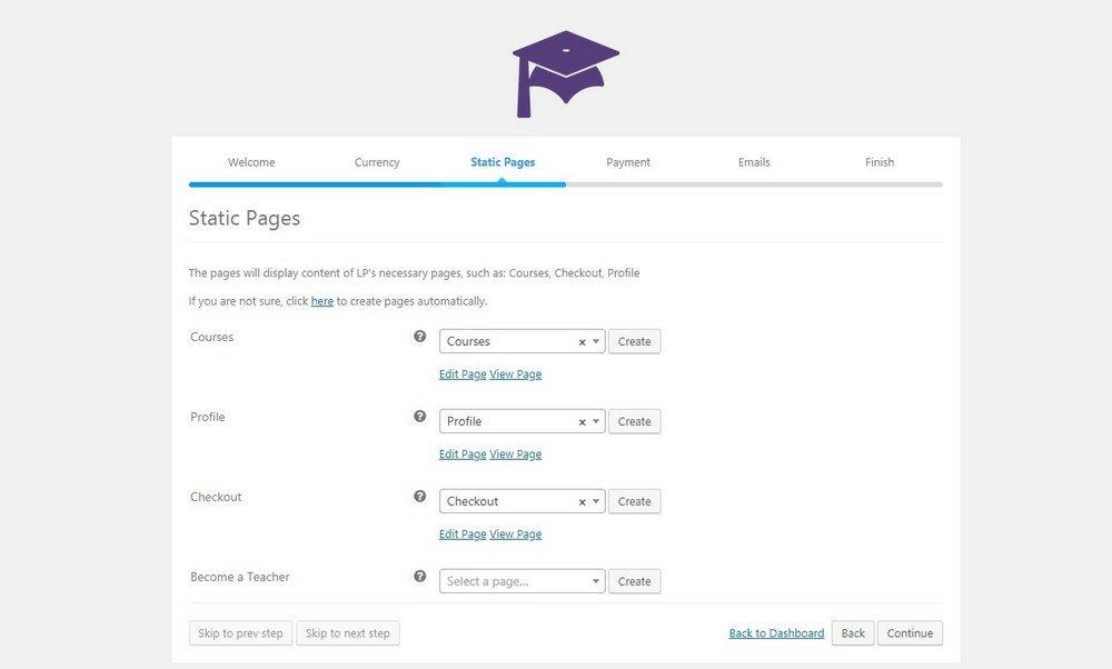 Cómo configurar LearnPress